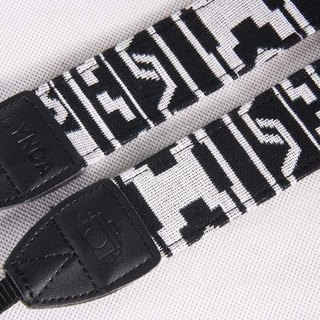 A MIN hit color national trend of black and white camera strap -203