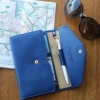 Plepic - Classic Journey Passport Wallet - Navy Dark Blue, PPC92306