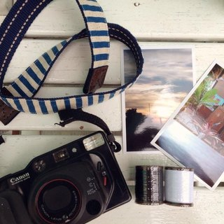 ﹝ Clare cloth ﹞ Great small fresh hand-made streak camera strap