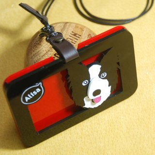 Q customized version of pet travel card sleeve / card holder / badge / acrylic material