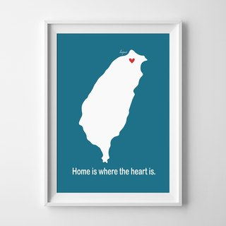 Home is where the heart is customized painting poster