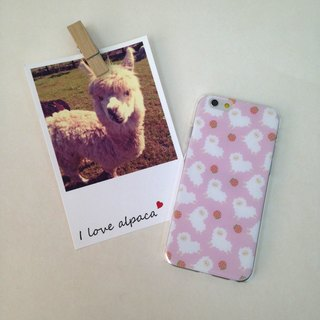 Pink Running Alpaca Strawberry Pattern Print Soft / Hard Case for iPhone X,  iPhone 8,  iPhone 8 Plus,  iPhone 7 case, iPhone 7 Plus case, iPhone 6/6S, iPhone 6/6S Plus, Samsung Galaxy Note 7 case, Note 5 case, S7 Edge case, S7 case