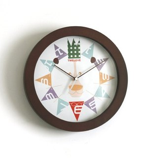 """Happy Lion""  Wood Wall Clock"