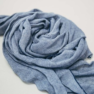 Cool collagen scarf scarlet - gray blue