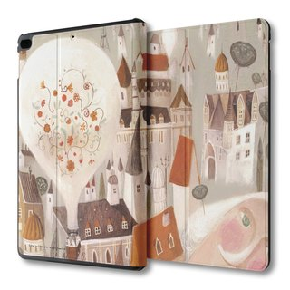AppleWork iPad mini 1/2/3/4 multi-angle flip leather - hot-air balloon PSIBM-005