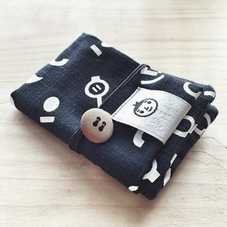 [BestFriend] Eyes, Nose, Lips Cotton Card Case Card Pouch / card sets / Black
