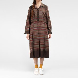 │moderato│Forest land vintage dress │ retro girl. London. Literature. Small fresh