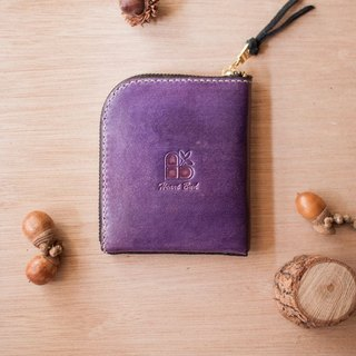 Leather wallet handmade leather lounger 5th floor! (Straight) purple