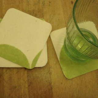 Spring paper coaster (green)