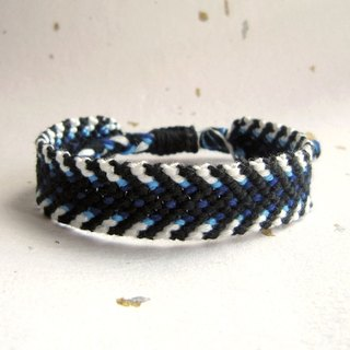 Blues zebra crossing rope woven bracelet (optional color)