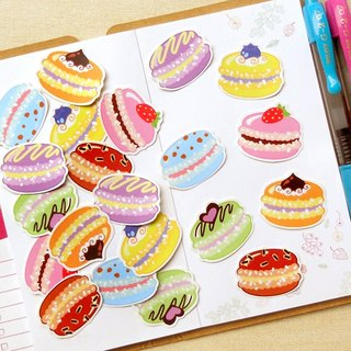 Macaron Stickers 21 Pieces - Planner Stickers - Scrapbooking Stickers