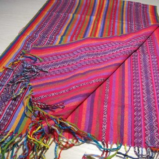 Peruvian weaving colorful scarves / shawls - two-color