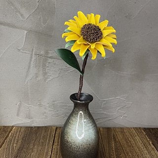 Leather yellow sunflowers