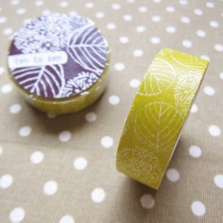 Kurashiki artisan x dot line pattern making workshop and paper tape [紫阳花-芥芥黄(26534-03]