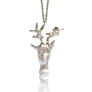 Hand-carved from the heart ♦ forest deer necklace
