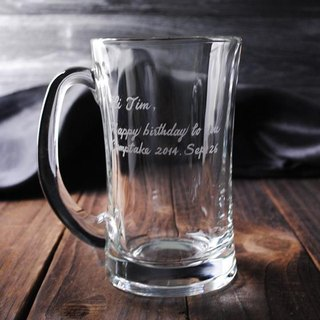 330cc [MSA GLASS ENGRAVING] party. Glass beer mug mug engraved lettering custom