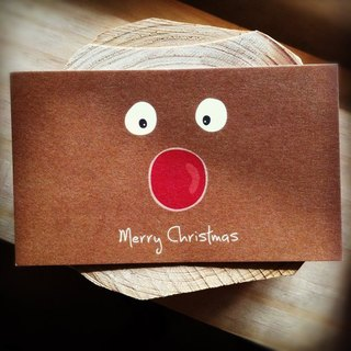 KerKerland - Elk Red Nose - Small Card (Business Card Size)