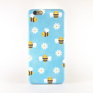 Bees and Daisies iPhone case
