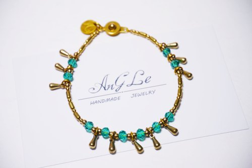 ❡ droplets brass bracelets