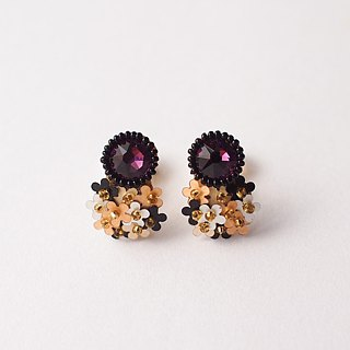 "Clip on earrings""bijoux & bouquet""amethyst"