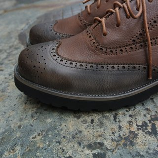 # 907 men's shoes This is no make-up shoes for men light version of the color mixed Oxford / brown coffee