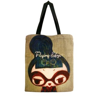 Canvas bag [FlyingSofye female snitch Su Fei] illustration. Thick and durable Totebag