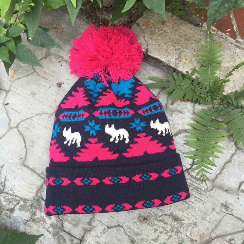 Oops輕民族風*法鬥毛線帽-新年禮物-情人節禮物