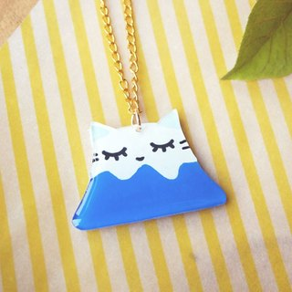 Meow Fuji mountain cat necklace