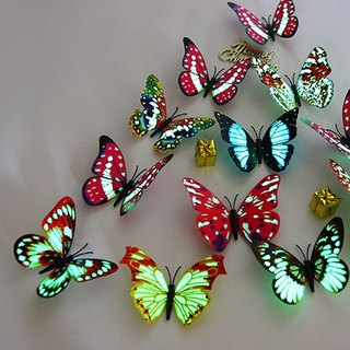 HomePlus 3D Magnetic Butterfly  Luminous 12pcs Wall Stickers Decoration