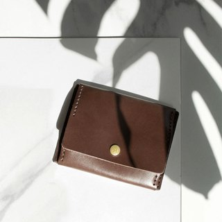 [ADOLE] leather hand made DIY set - coin purse - Jiao brown