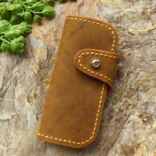 [ANITA] Workshop manual hand-made leather rugged texture of Crazy Horse Wallets -4 holes
