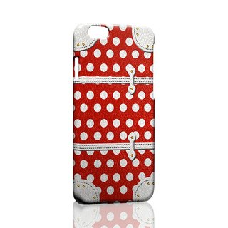 Red and white wave point suitcase ordered Samsung S5 S6 S7 note4 note5 iPhone 5 5s 6 6s 6 plus 7 7 plus ASUS HTC m9 Sony LG g4 g5 v10 phone shell mobile phone sets phone shell phonecase