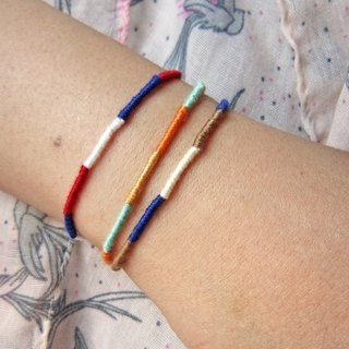Accompany the lucky rope round rope braided bracelet (optional color)