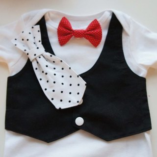 Tuxedos Baby Suit-BABY package fart clothes suit / tie tie can be replaced