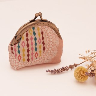 Change the pattern shown Ailei Si mouth gold package pink pearl buttons Japanese cloth bag