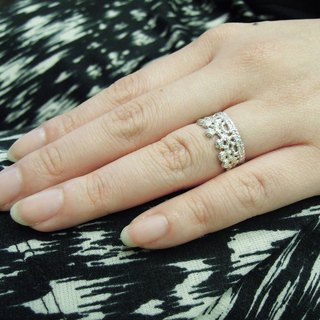 Silver lace ring / tail ring / gift / anniversary / Valentine