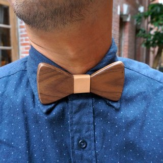 Natural Log Bow Tie - Walnut (Gift / Wedding / Newcomer / Official Occasion / Valentine's Day Gift)