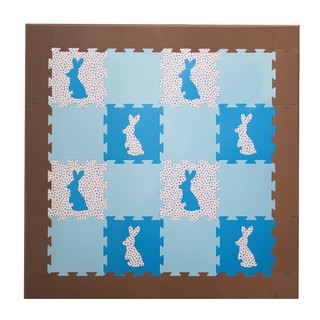 Rabbit jumping crawling mats - Alice Blue