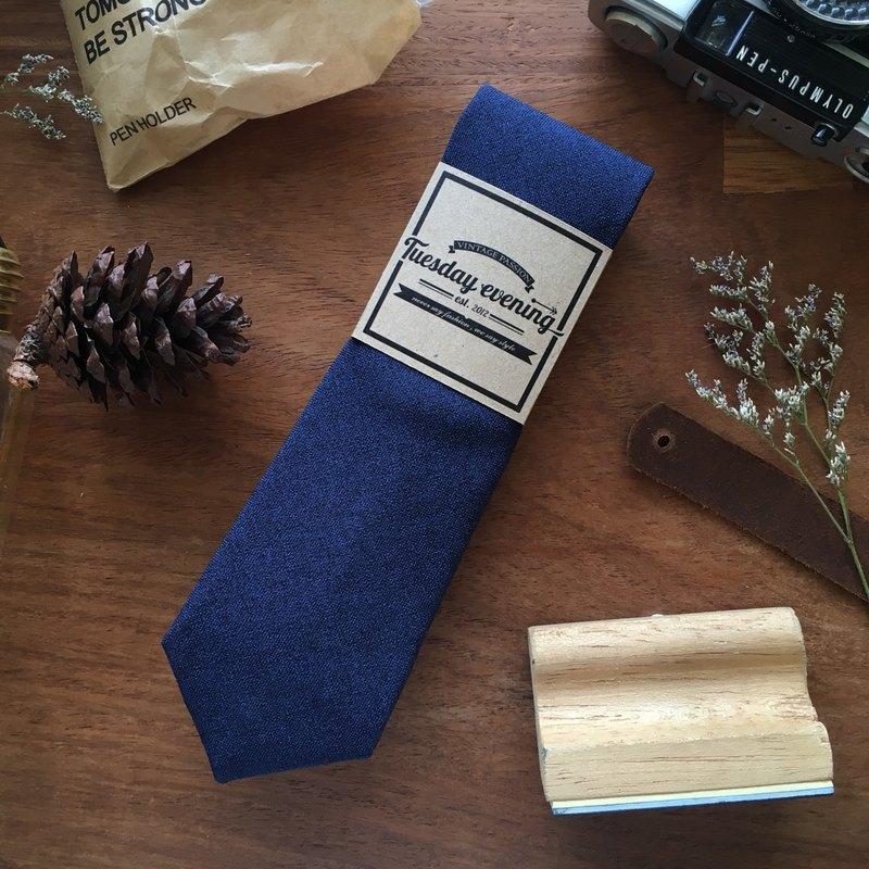 復古領帶 - 海軍藍