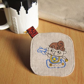 Qm coasters five kinds of embroidery daily necessities