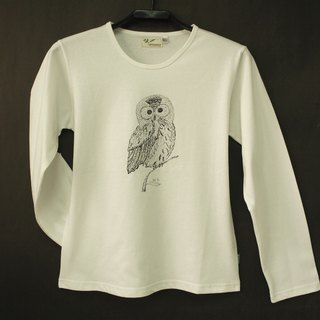 Green organic cotton [owl] female long sleeve