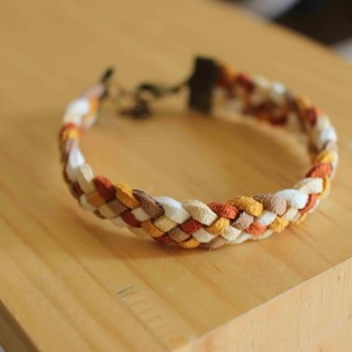 1hand made bracelet-- korean synthetic leather【Red Fox】
