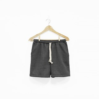 Straight line brushed cotton drawstring shorts - Twisted Black - M has been sold out