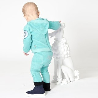 [Design] Nordic organic cotton infant posted leg pants green lake (for 6M-3Y) Shampoodle Kids