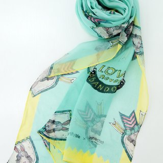 Love Never Abandons 6 long silk scarf