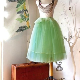 New York Walk Mint Green Two-Seventh Handmade Skirt / Wedding Gifts Customized
