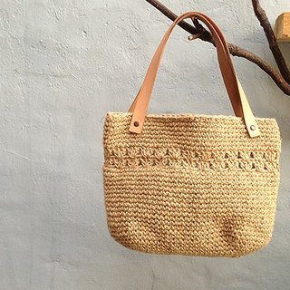 Handmade hook jute bag ~ poetry life bag articles D (single product) ~ hand made poetry new products, happiness!