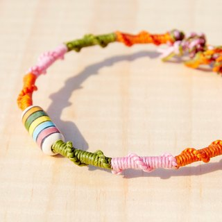 Colorful summer silk rope wax moldings - ceramics, hand painted