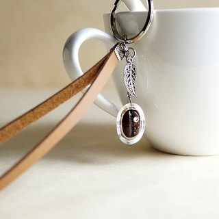 Coffee beans key ring - special material - the creation of real coffee beans