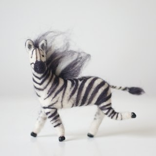 [Horned forest] Zebra wool felt little brother